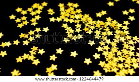 Gold Star Sprinkles Background