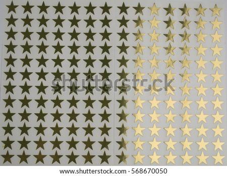 Gold star stickers background pattern #568670050
