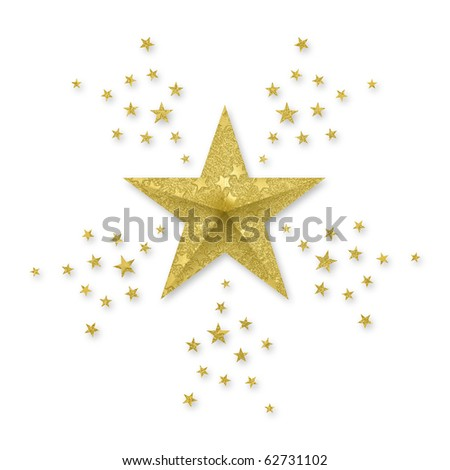 Gold Star, with small stars radiating out.