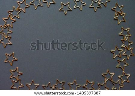 Gold stars background. Background of many stars. #1405397387