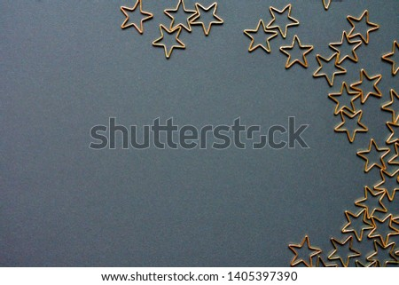 Gold stars background. Background of many stars. #1405397390