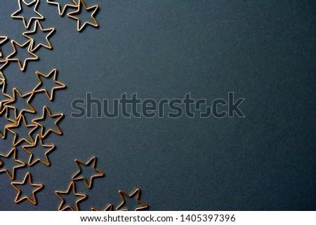 Gold stars background. Background of many stars. #1405397396