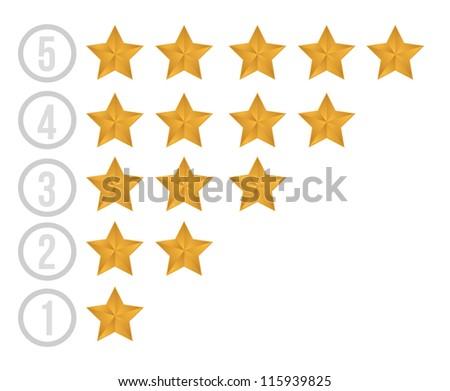 gold stars illustration design over white background
