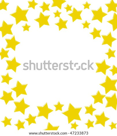 gold stars background. stock photo : Gold stars