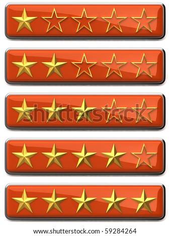 Gold stars ratings
