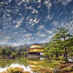 gold temple japan for adv or others purpose use