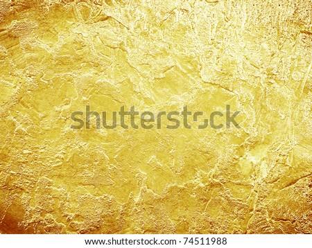 Gold texture - stock photo