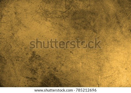 Gold Texture. Scratched metal.  #785212696