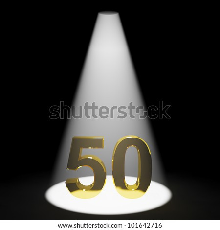 Gold 50th 3d Number Representing Anniversary Or Birthdays