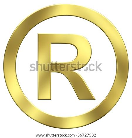 Gold trademark symbol