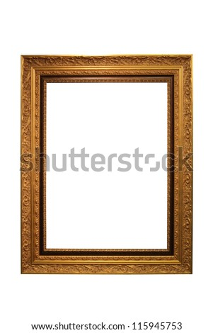 Gold Vintage Frame Isolated On White Background #115945753