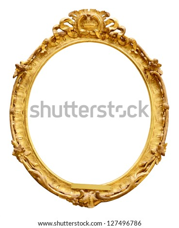 ShutterStock Gold vintage frame isolated on white background 127496786