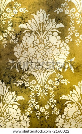 Gold wallpaper background - stock photo