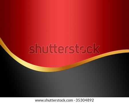Gold wave over grey and red background