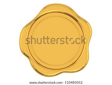 Gold wax seal