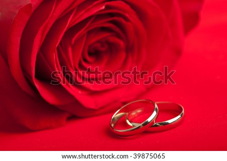 stock photo Gold wedding