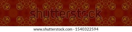 Gold Wedding vintage lace seamless. Ornamental Geometry. Ornate Tile Background Golden Black Decoration print. Antique Element Hand Drawn. Kaleidoscope Effect. Floral Elements Floral Elements