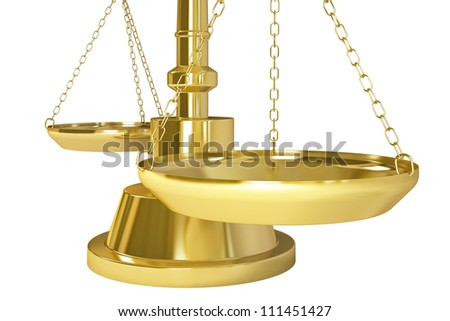 Gold Weight Scale - Isolated on background