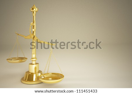 Gold Weight Scale - Isolated on background - stock photo