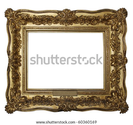 """Gold wooden frame (From my """"Frames collection"""")"""