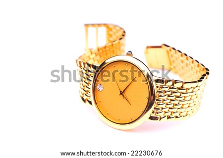 gold wrist watch