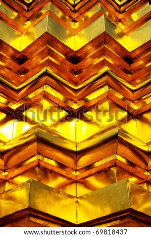 Gold zigzag abstract concept