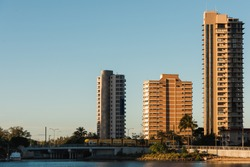Goldcoast,QLD ,Australia at sunset(golden hour)