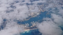 Goldcoast, Queensland, Australia. View from the plane