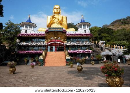 Goldem Temple in Dambulla, Sri Lanka