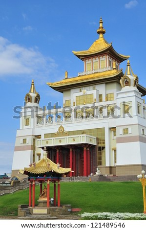 Golden Abode of Buddha Shakyamuni was built in 2005 AD, in southern Russia, in Elista