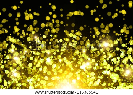 Golden abstract background with bokeh effect