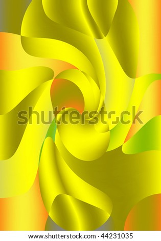 GOLDEN ABSTRACT COMPOSITION ABSTRACT FORMS