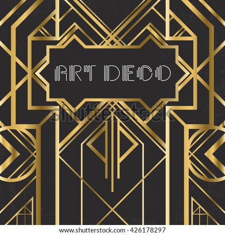 Royalty free art deco geometric patterned background 146956313 stock photo - Style vintage deco ...