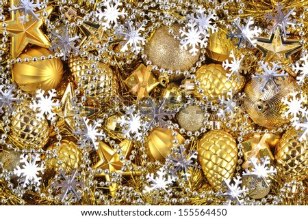 Golden and silver christmas decorations ez canvas