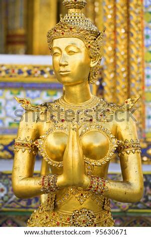 Golden Angel in Wat Phra Kaew, Bangkok, Thailand.