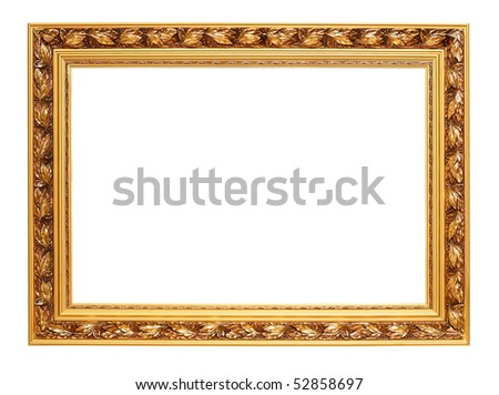 picture frame. stock photo : Golden art frame