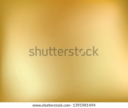 Golden background. Abstract light gold metal gradient. Blurred illustration.