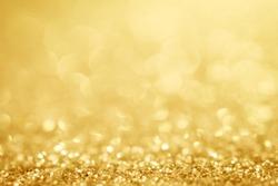 Golden background silver glitter christmas christmas