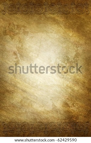 golden background with ornate frame
