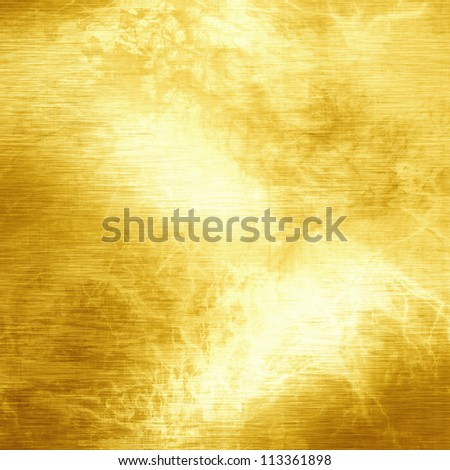 Golden background with some reflected light and highlights