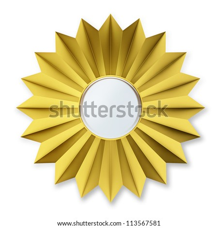 Golden Badge Isolated over background