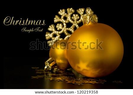 golden ball close up on dark background