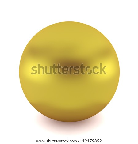 golden ball - 3d render on white