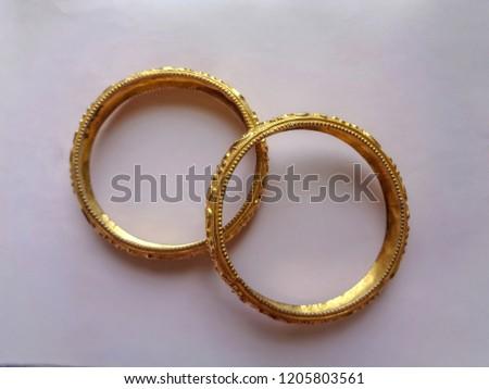 Golden bangle for someone's gift