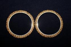 Golden bangles shimmer shiny festive
