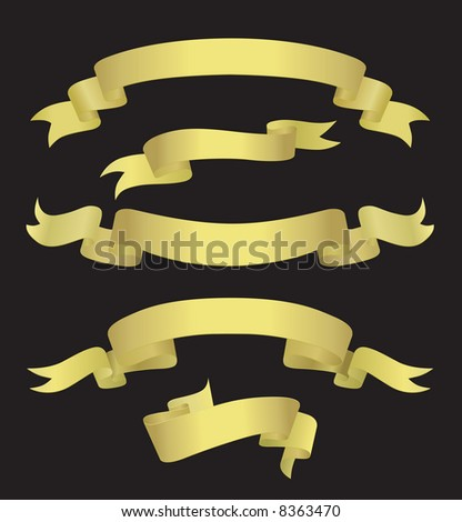 Golden Banners (also available vector version of this image in our gallery)