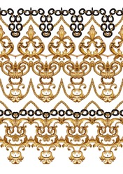 golden baroque and chains