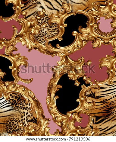 golden baroque and leopard skin #791219506