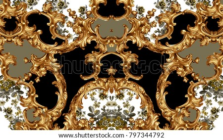 golden baroque and leopard skin