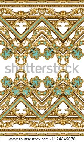 golden baroque ornament - Shutterstock ID 1124645078